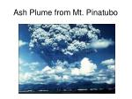 ash plume from mt pinatubo