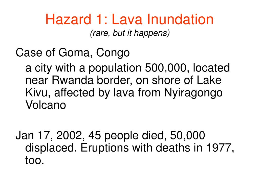 Hazard 1: Lava Inundation