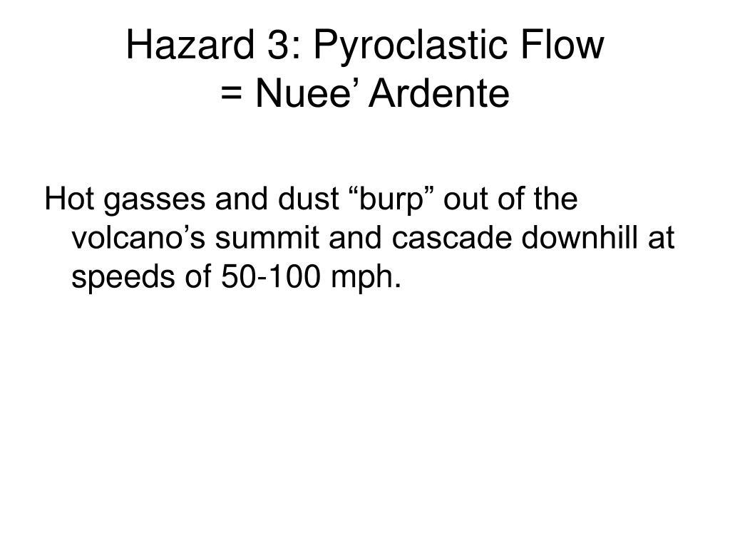 Hazard 3: Pyroclastic Flow
