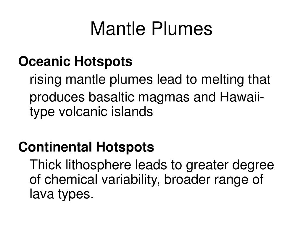 Mantle Plumes