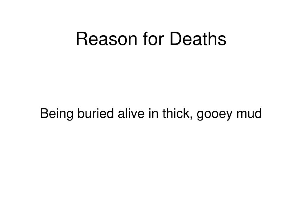 Reason for Deaths