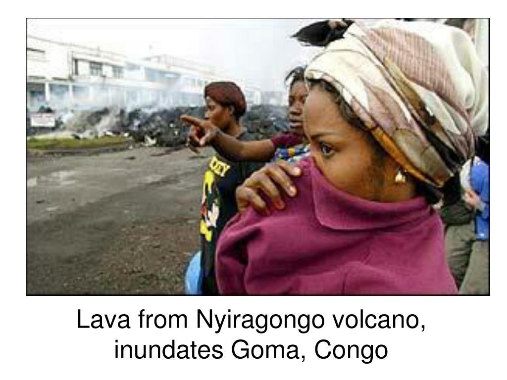 Lava from Nyiragongo volcano, inundates Goma, Congo