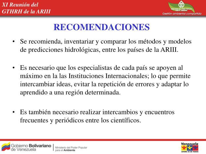 XI Reunión del GTHRH de la ARIII