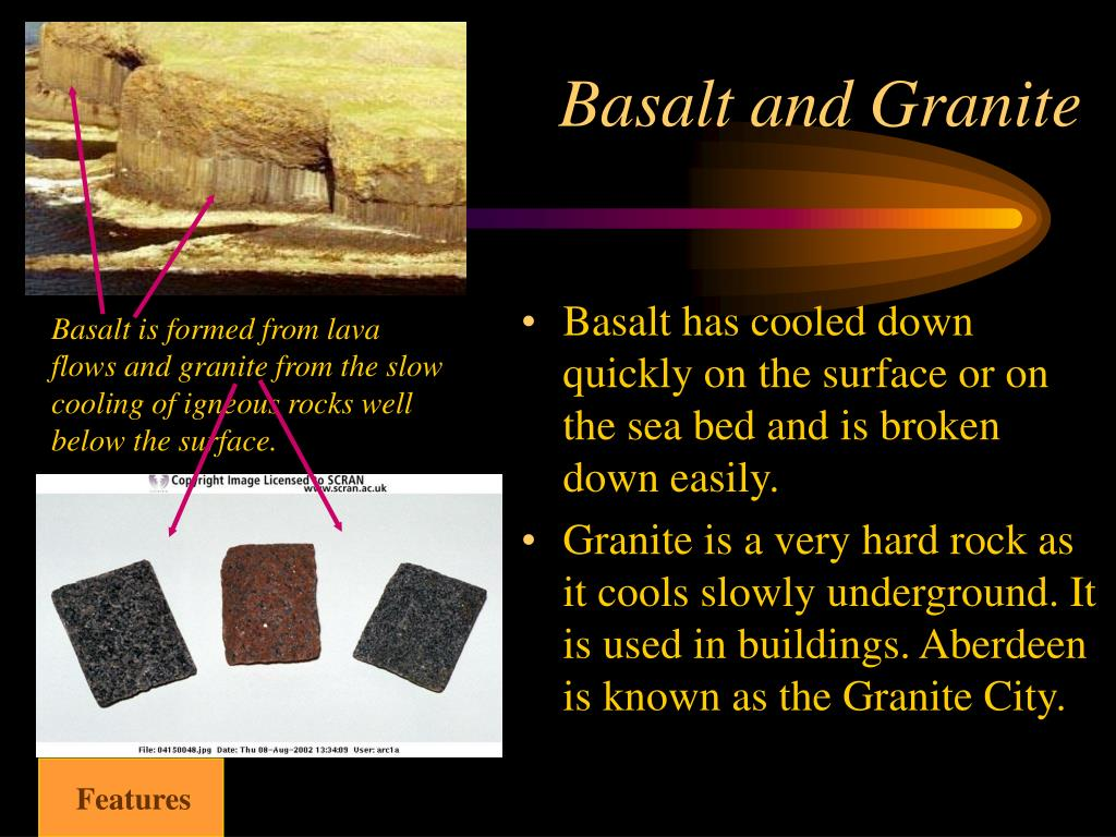 Basalt and Granite
