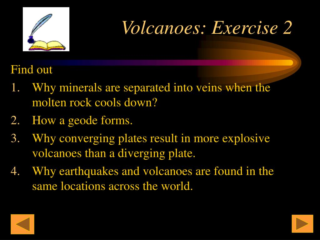Volcanoes: Exercise 2