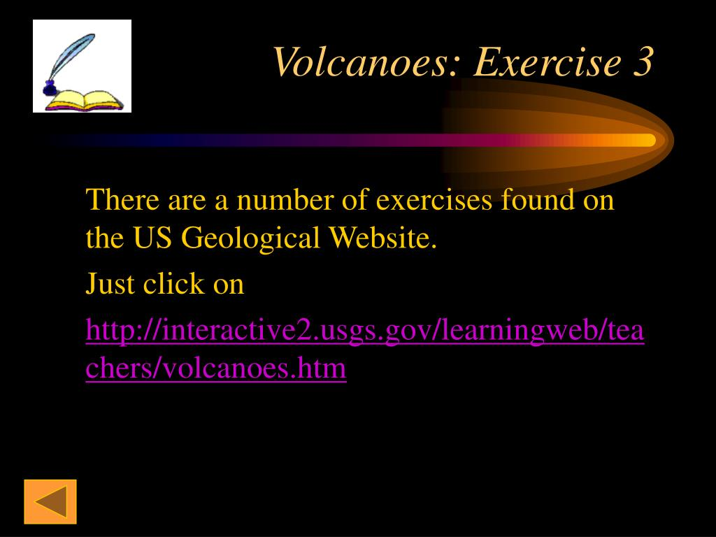 Volcanoes: Exercise 3