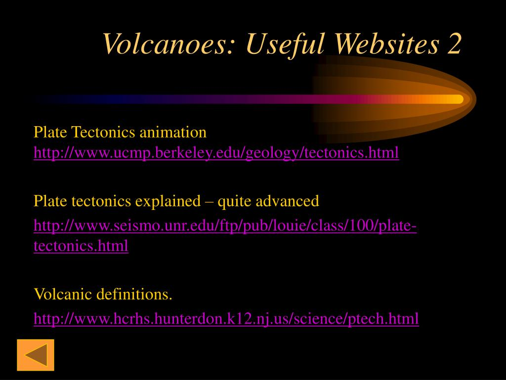 Volcanoes: Useful Websites 2