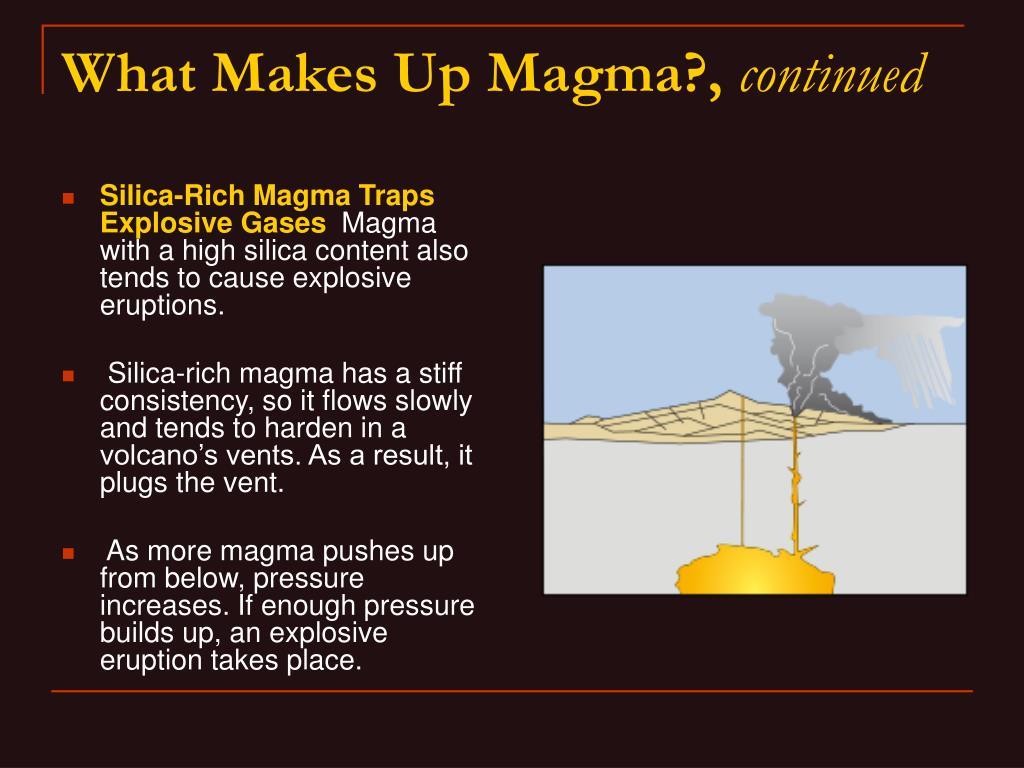 Silica-Rich Magma Traps Explosive Gases