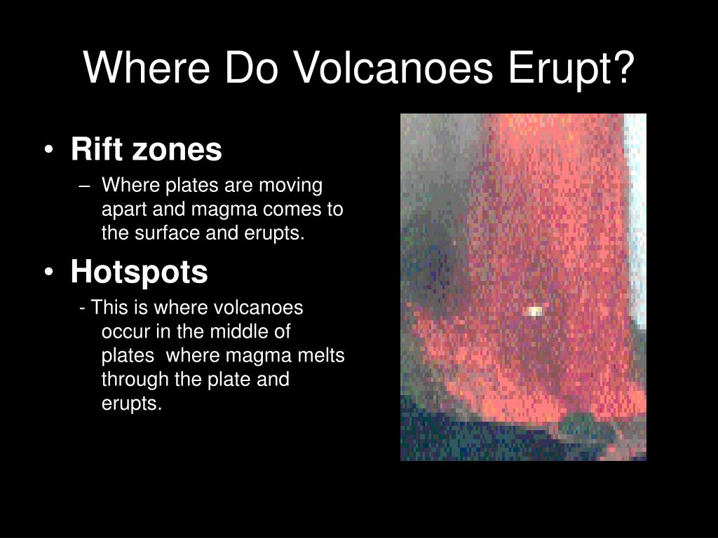 Where Do Volcanoes Erupt?