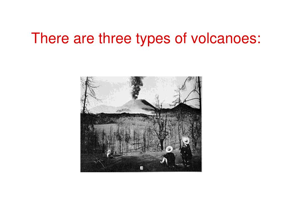 There are three types of volcanoes: