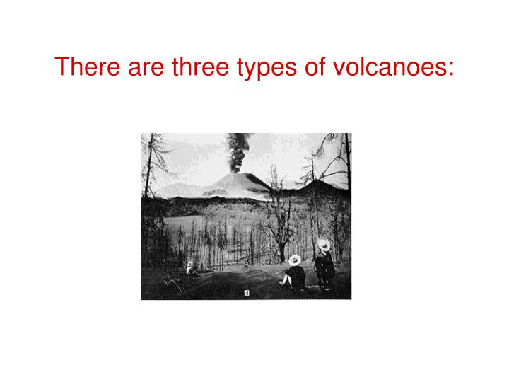 There are three types of volcanoes