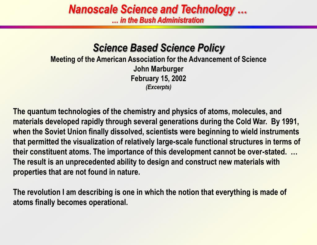 Nanoscale Science and Technology …