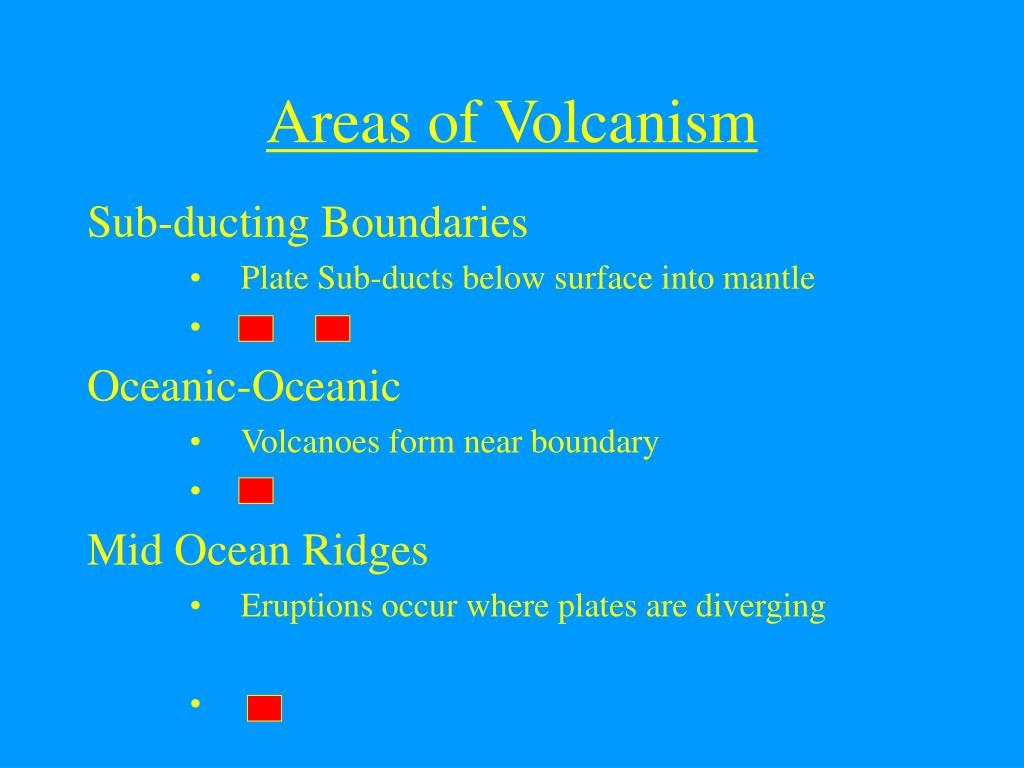 Areas of Volcanism