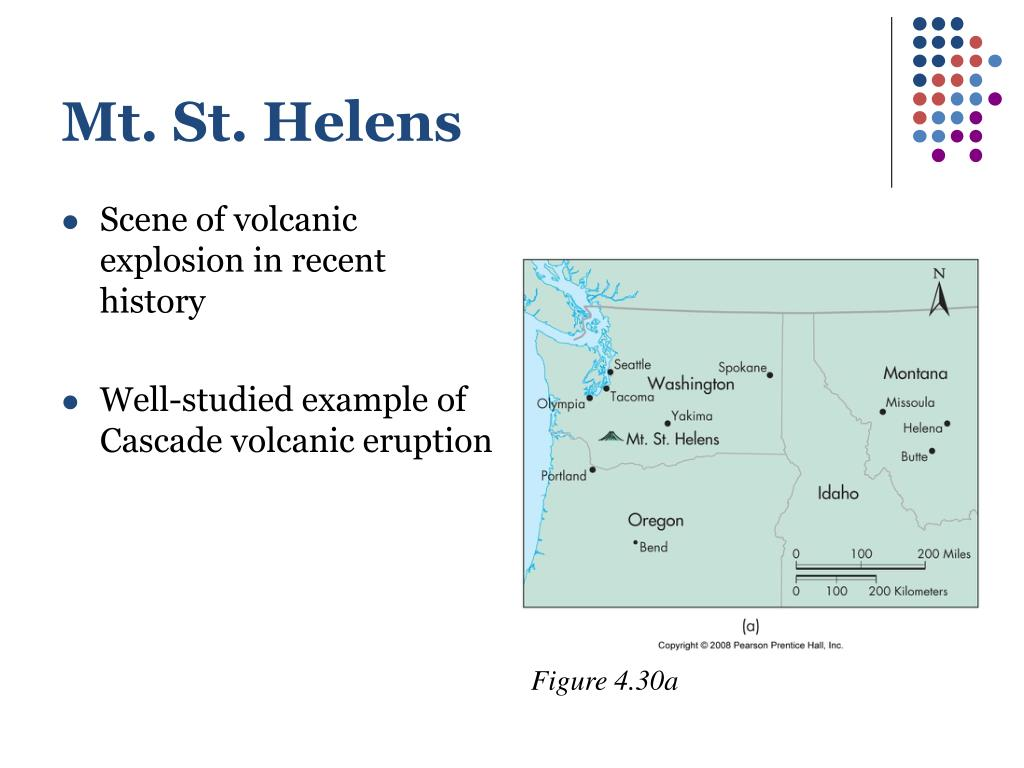 Scene of volcanic explosion in recent history