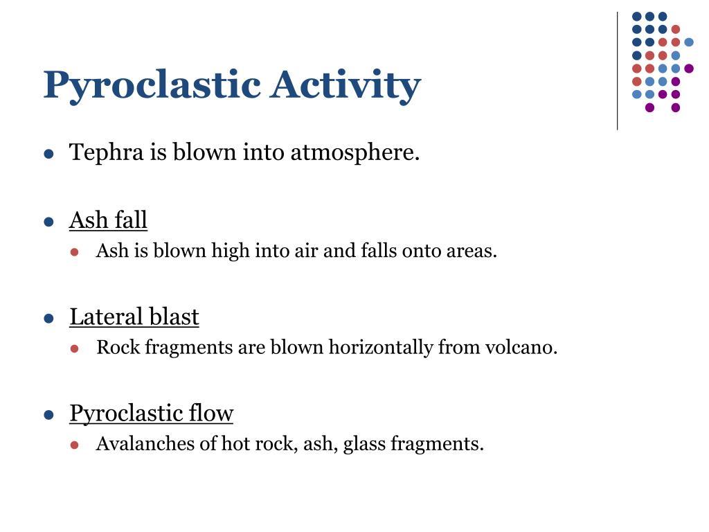 Pyroclastic Activity