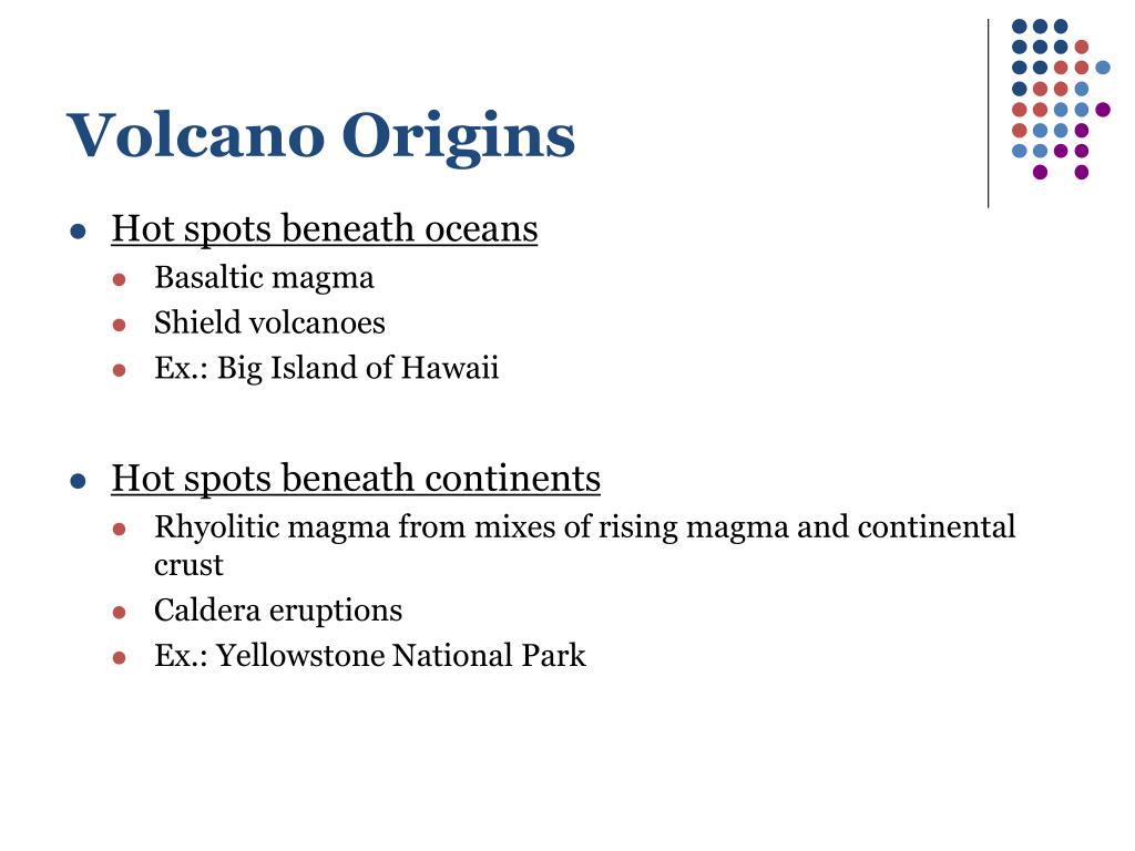 Volcano Origins