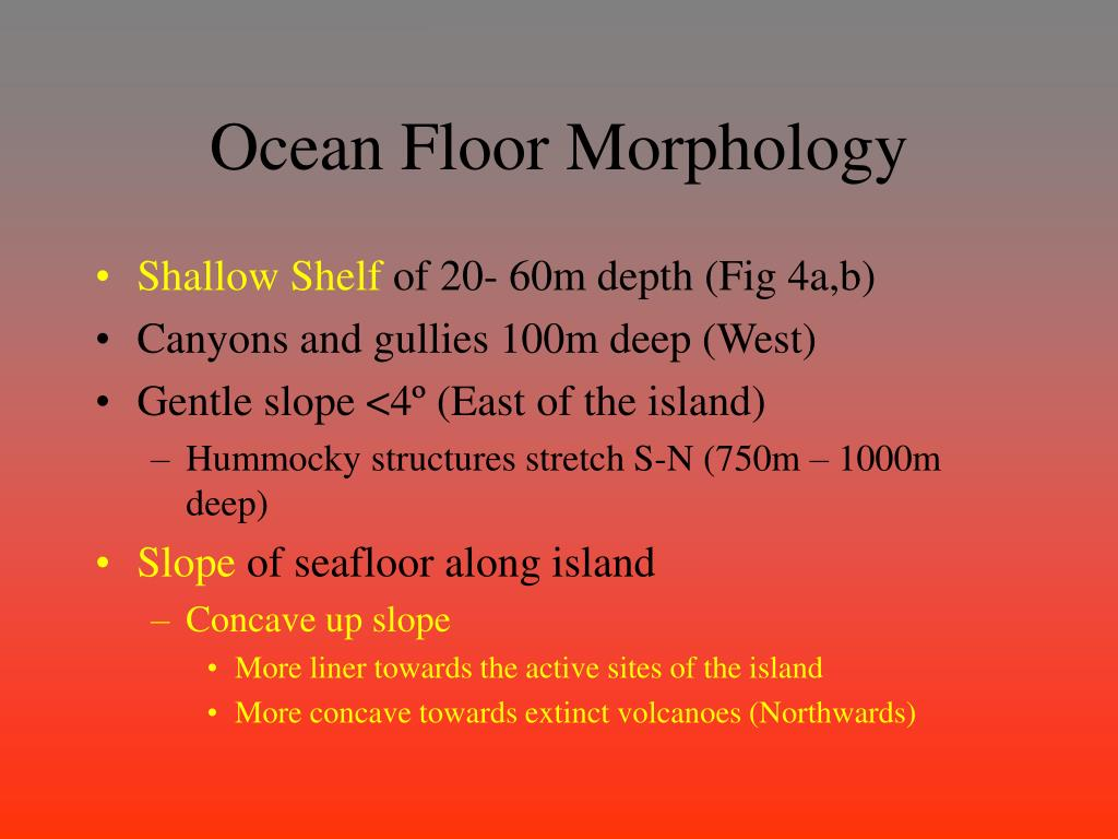 Ocean Floor Morphology