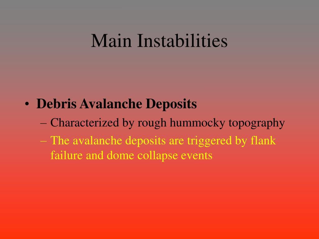 Main Instabilities