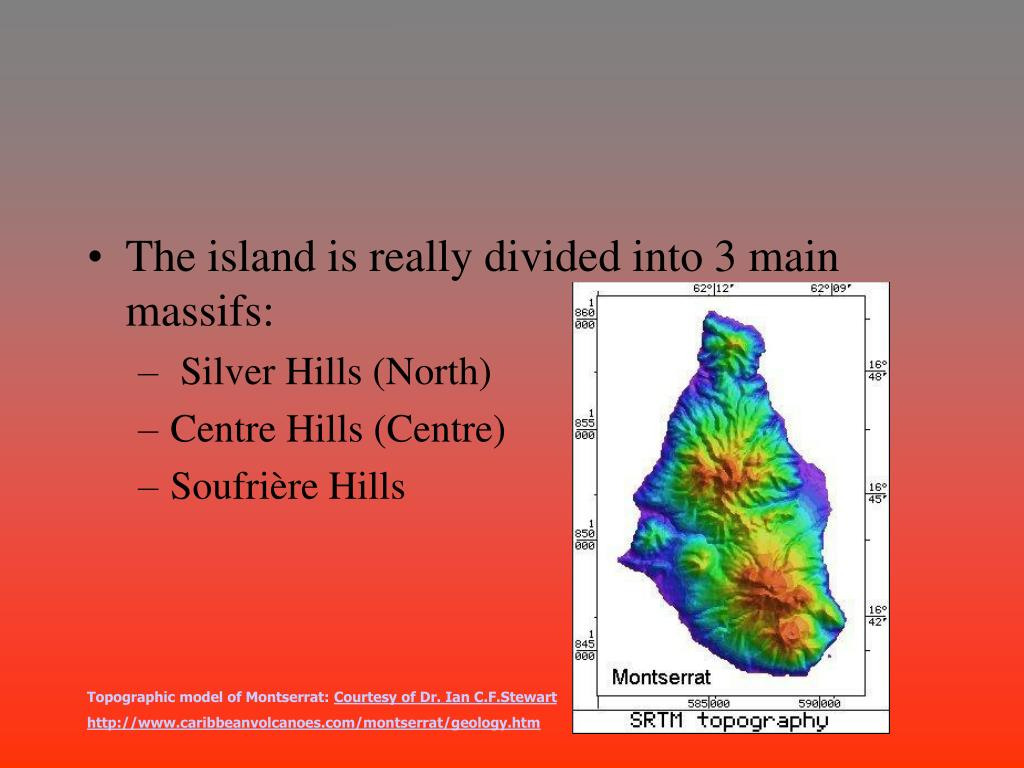 The island is really divided into 3 main massifs:
