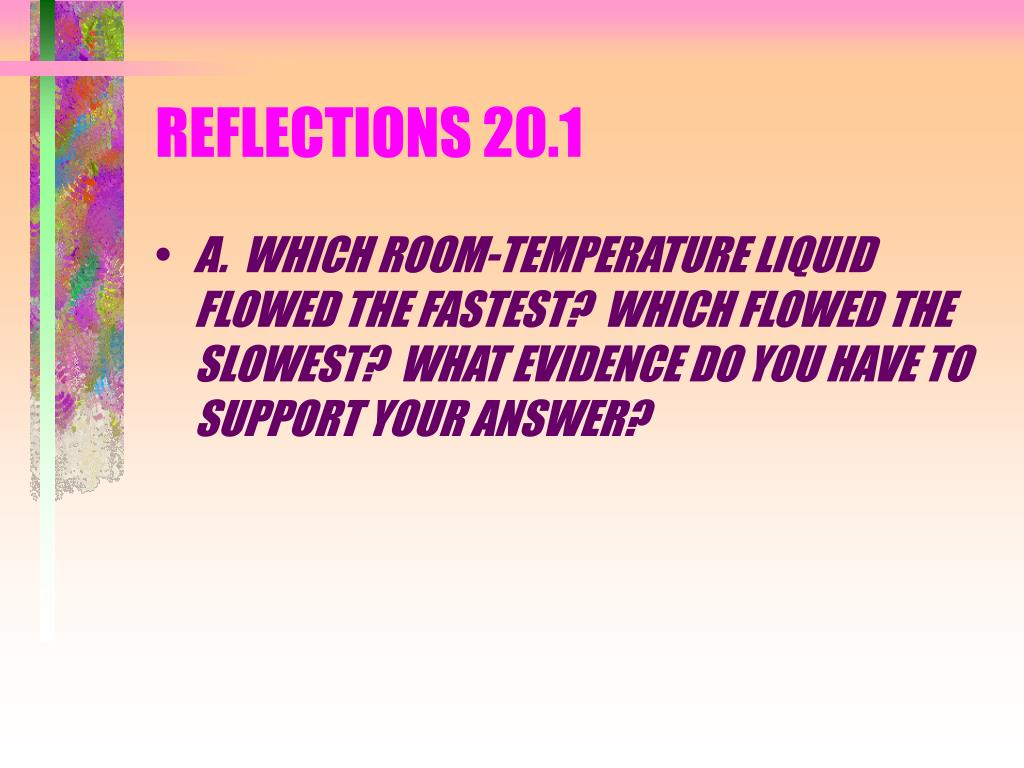 REFLECTIONS 20.1