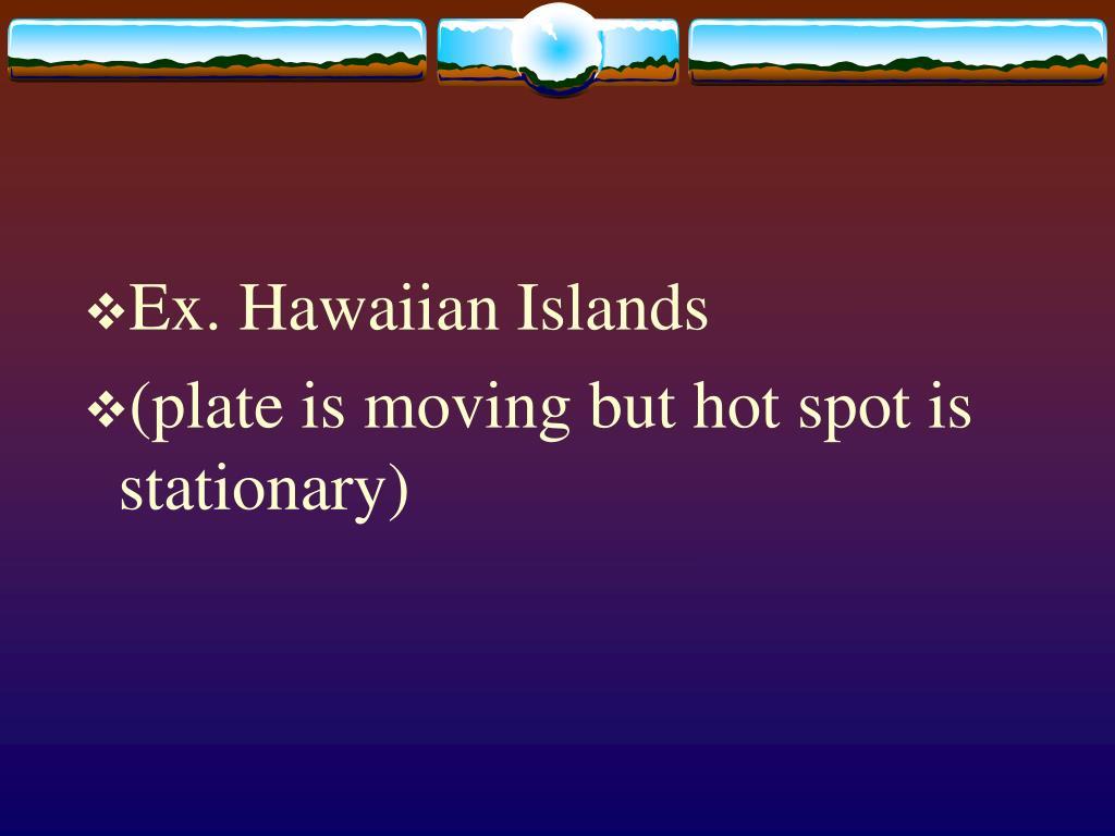Ex. Hawaiian Islands