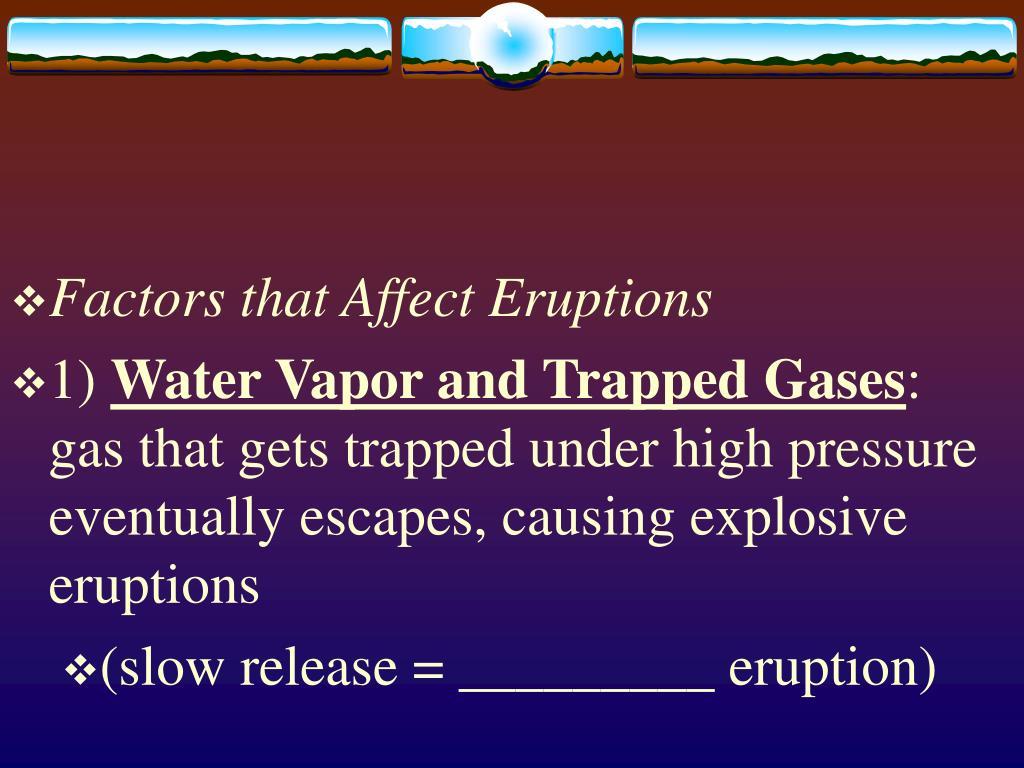 Factors that Affect Eruptions