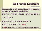 adding the equations