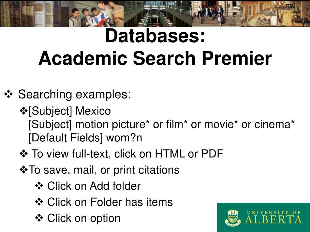 Databases: