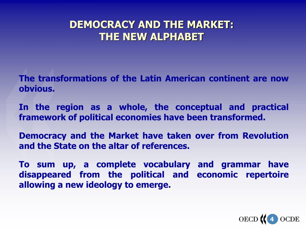 DEMOCRACY AND THE MARKET: