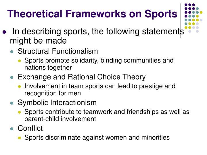 Theoretical Frameworks on Sports