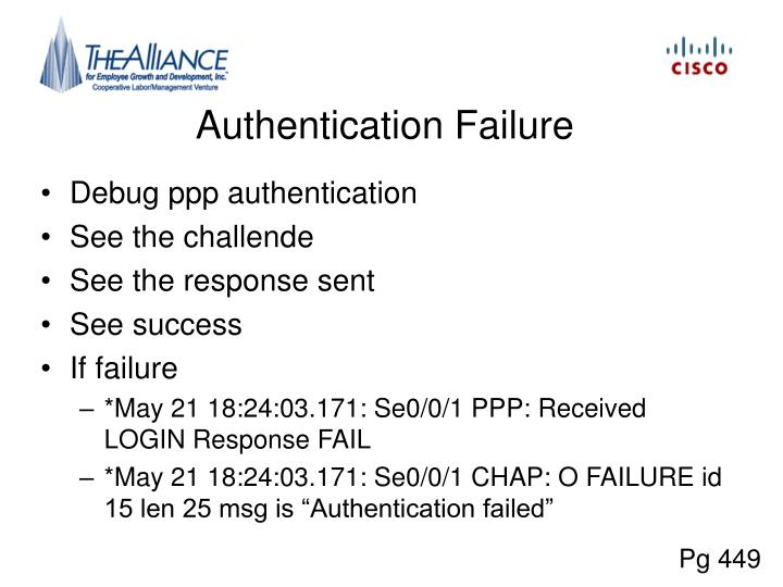 Authentication Failure