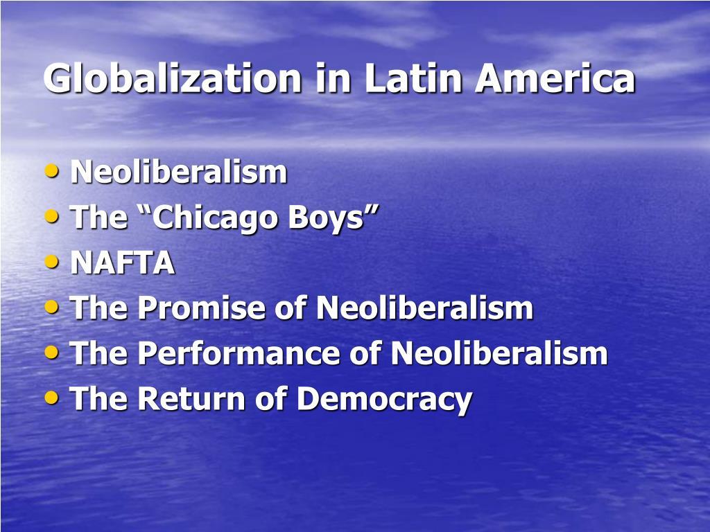 Globalization in Latin America