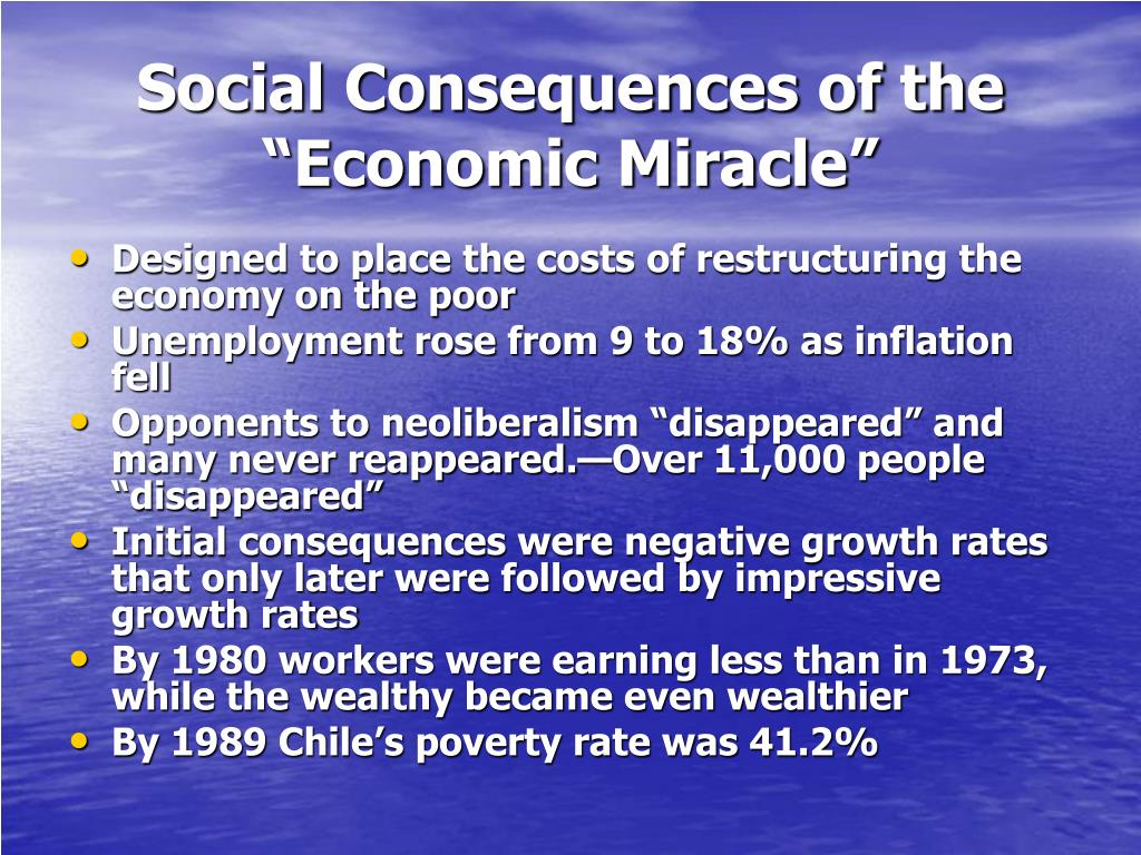 """Social Consequences of the """"Economic Miracle"""""""
