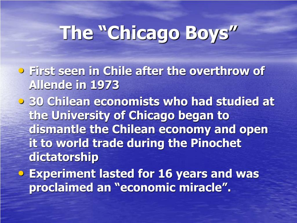 """The """"Chicago Boys"""""""