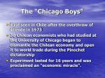 the chicago boys