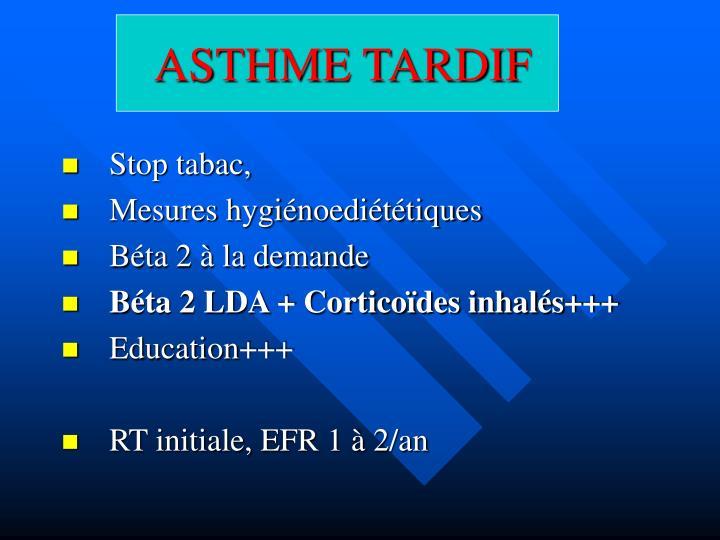 ASTHME TARDIF