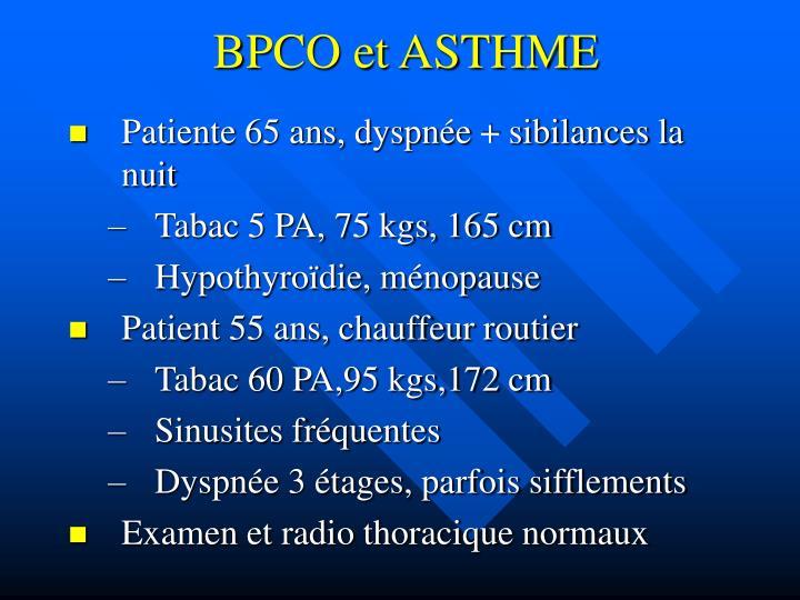 BPCO et ASTHME