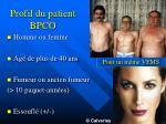profil du patient bpco