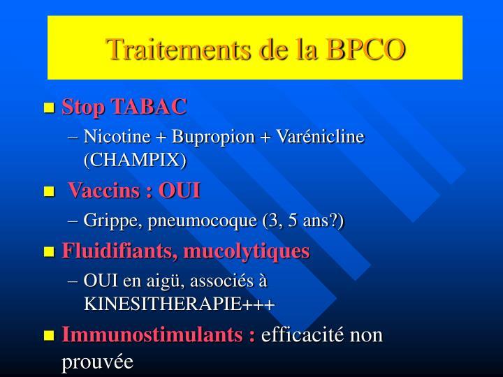 Traitements de la BPCO