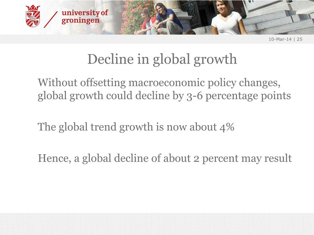 Decline in global growth