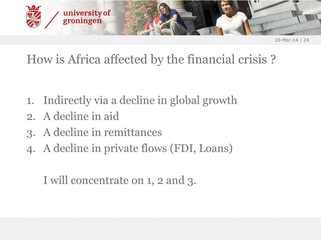 How is Africa affected by the financial crisis ?