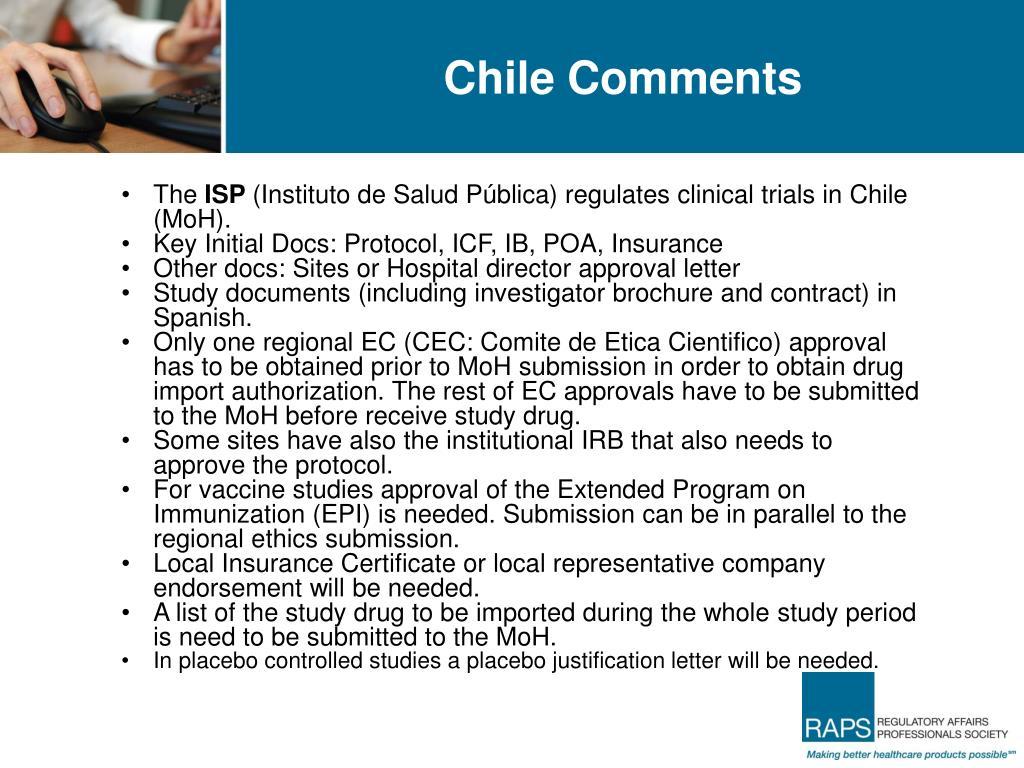 Chile Comments
