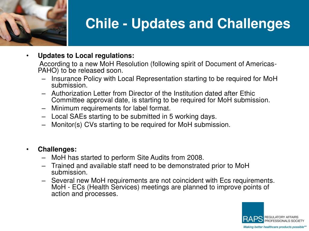 Chile - Updates and Challenges