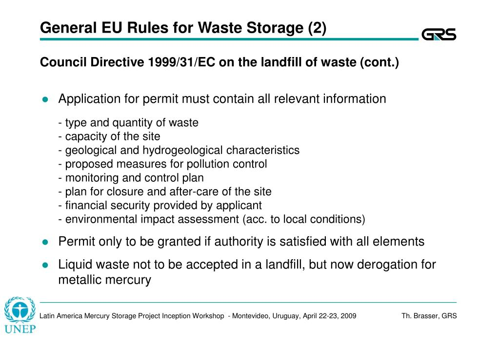 General EU Rules for Waste Storage (2)