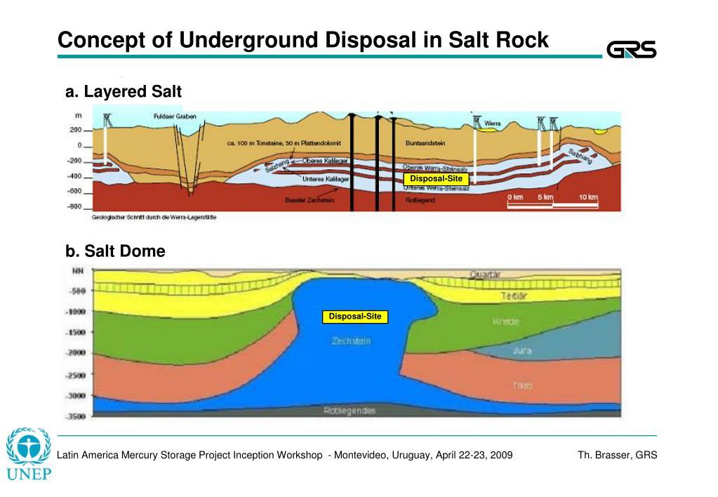 Concept of Underground Disposal in Salt Rock