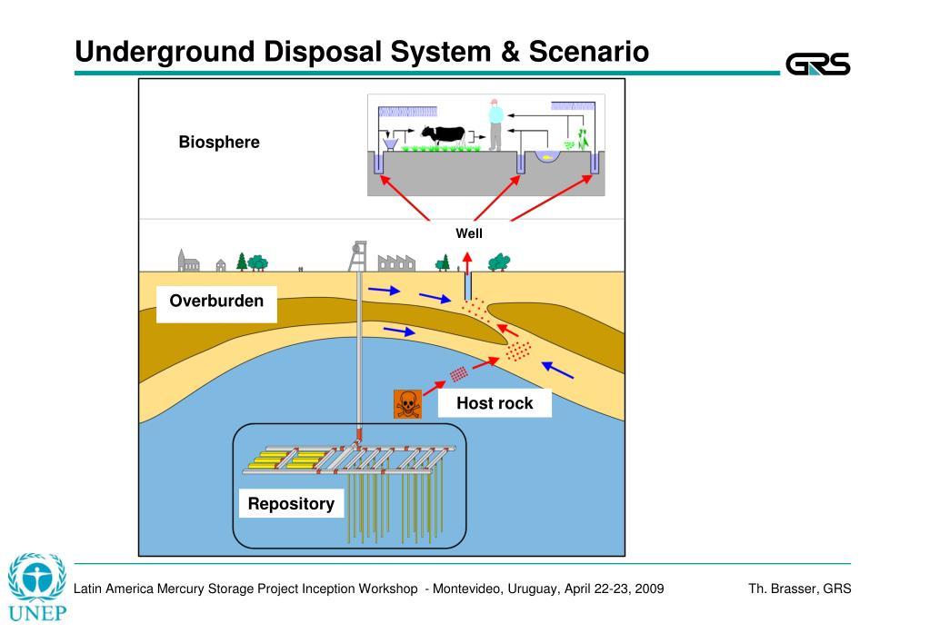 Underground Disposal System & Scenario