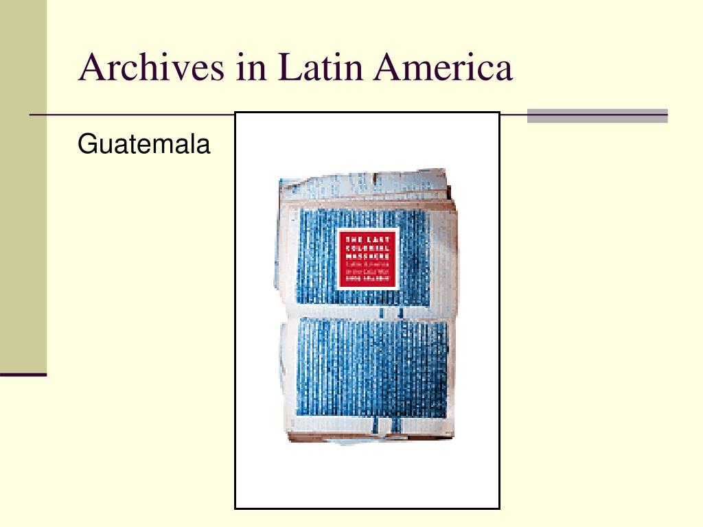 Archives in Latin America