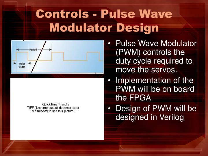 Controls - Pulse Wave Modulator Design