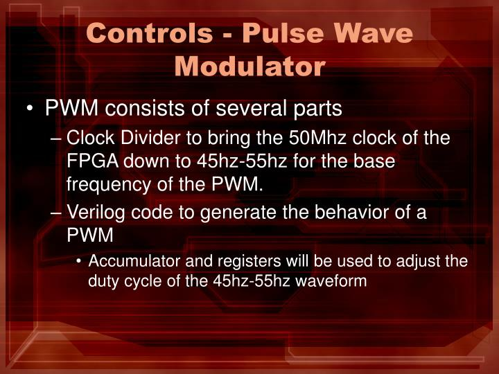 Controls - Pulse Wave Modulator
