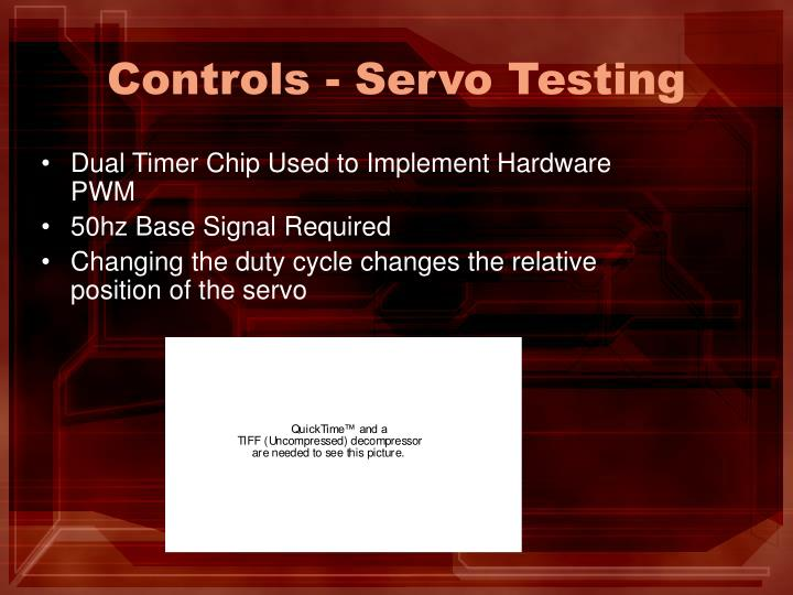 Controls - Servo Testing